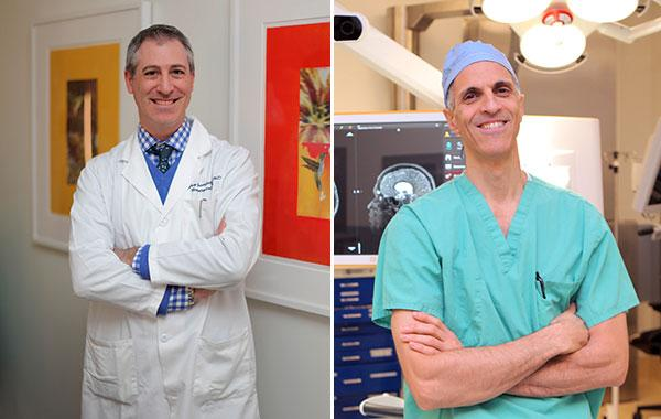Dr. Jeffrey Greenfield (left) and Dr. Mark Souweidane